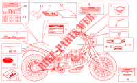 Plaquettes-decal. Chassis 940 moto-guzzi-motos BELLAGIO 2008 35